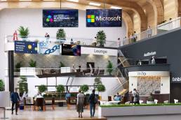 Virtual event lobby
